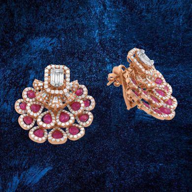 Rose Gold Women Light Weight Earring
