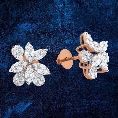 Assymetric Bloom Stud Earrings