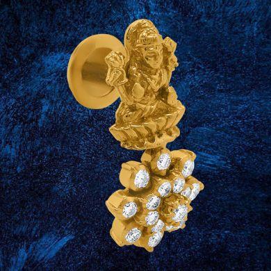 Laxmi Floral Drop Earrings